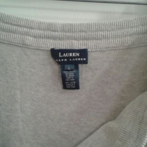 RALPH LAUREN GREY COTTON KNIT SKIRT SIZE LARGE